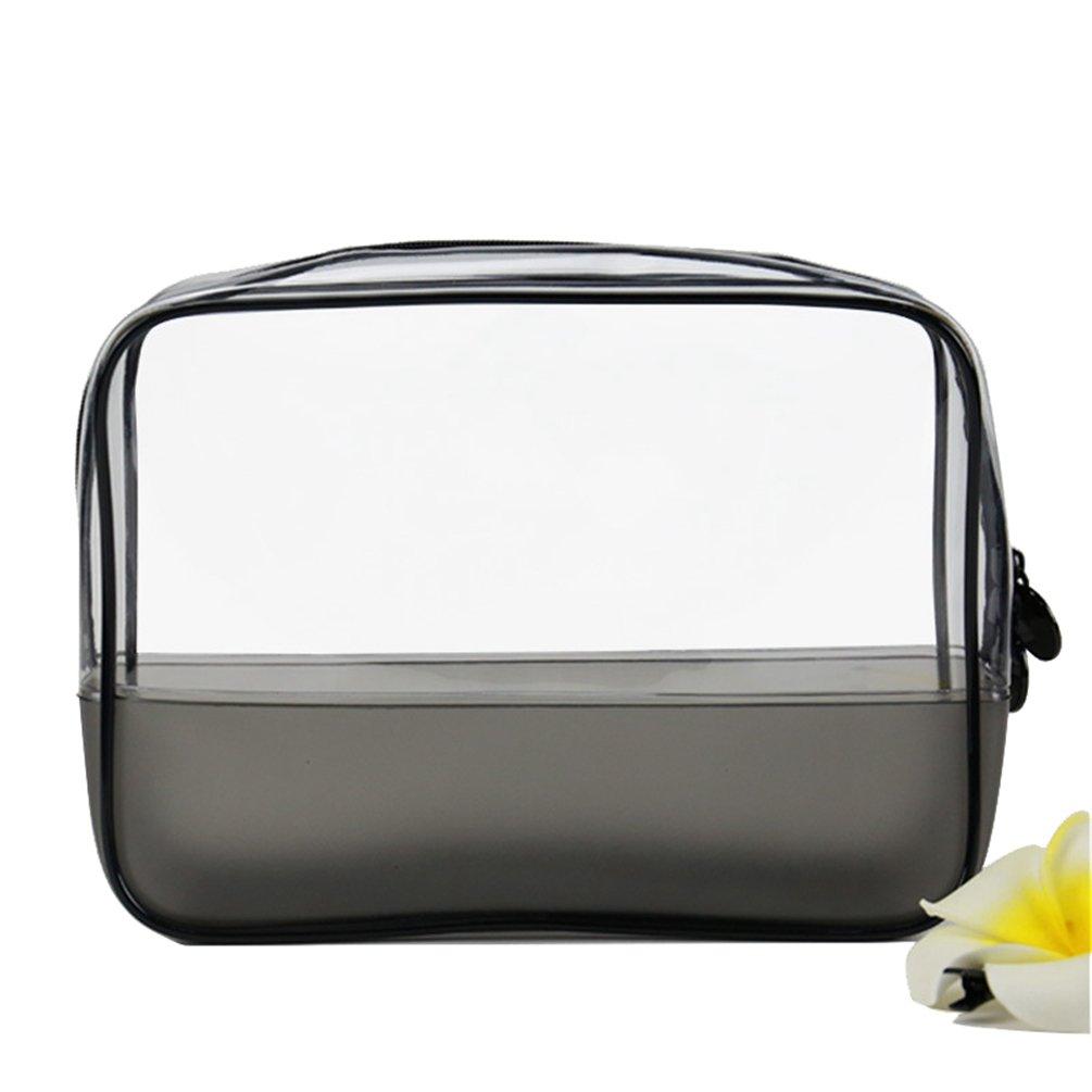 Yuanu Transparente PVC Cremallera Neceser De Cosmeticos Ligero Durable Necesidades Diarias Bolsa De Almacenamiento Serigrafía Impermeable A Prueba De Humedad Viaje Bolsa De Lavado