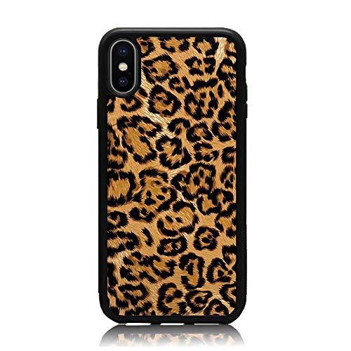 sale retailer 107da 039ee Amazon.com: iPhone X Case, Brown Luxury Leopard Print Soft Silicone ...