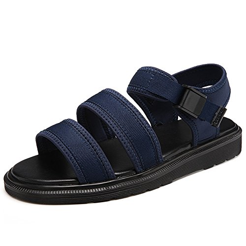 Men's Shoes Feifei Simple and Stylish Thick Bottom Non-Slip Lovers Sandals 3 Color Optional Blue u8lan