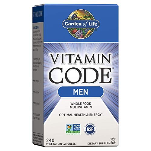 Garden of Life Vitamin Code Whole Food Multivitamin for Men – 240 Capsules, Vitamins for Men, Fruit and Veggie Blend and…