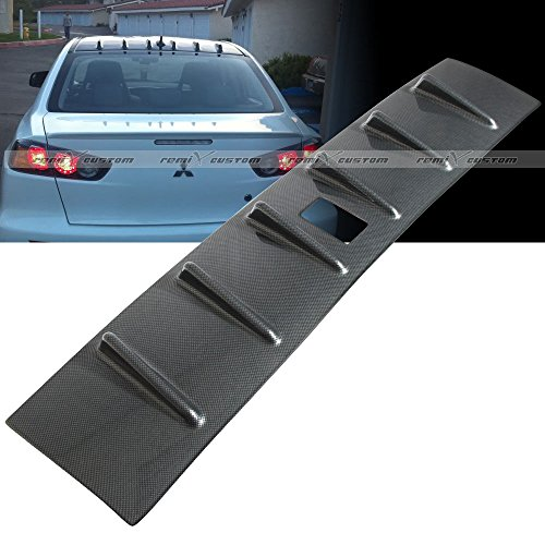 2008 - 2015 Mitsubishi Lancer DE / ES / GTS MR Style Shark Fin Vortex Generator Carbon Looks Roof Spoiler Wing (Gts Lancer)