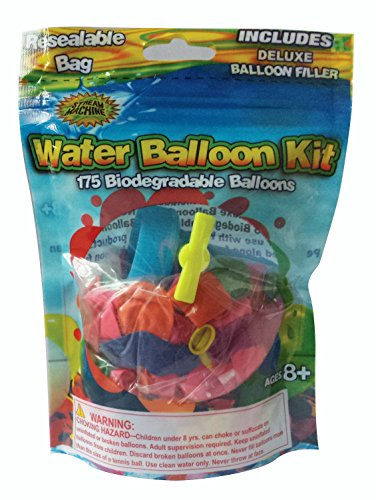 (Water Sports 175 Water Balloon Kit, Assorted Colors, 6.75