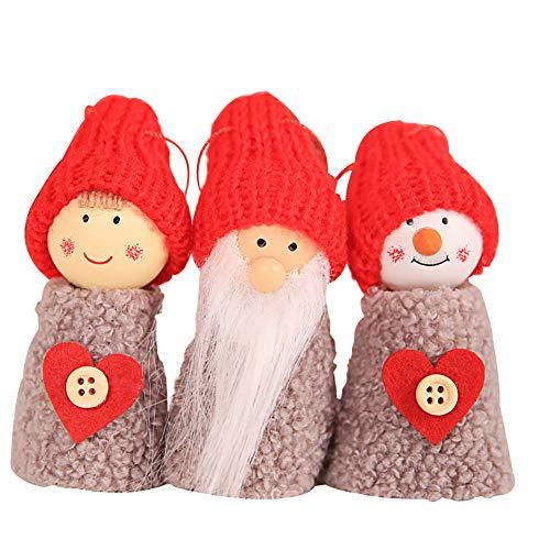 Light Pendant Pinecone 2 (lightclub 3Pcs Pine Cone Doll Christmas Tree Hanging Pendant Ornaments Xmas Party Decor Soft Plush Toy 2#)