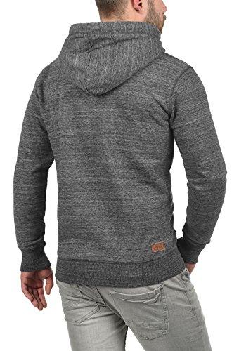 Capucha 8236 Hombre Hoodie Melange con Grey con para Sudadera Chaqueta Craig Cremallera Capucha con Solid nURfT1R