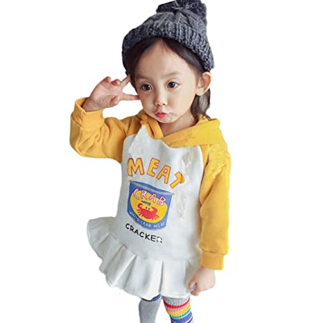 Amazon.com: SMALLE ◕‿◕ Clearance,Children Kids Baby Girl Letter Cartoon Print Hooded Pullover Tops Hoodie Clothes: Clothing