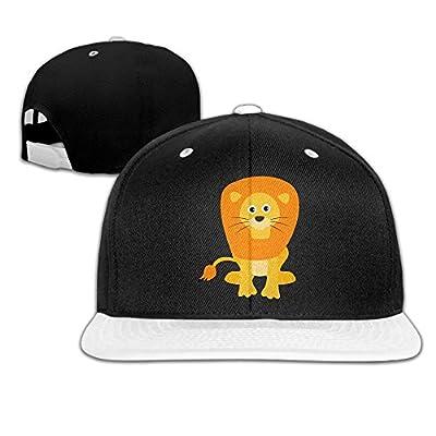 AJHGD Cartoon Lion Unisex Hip Hop Flatbrim Snapback Hats Adjustable Baseball Cap for Men