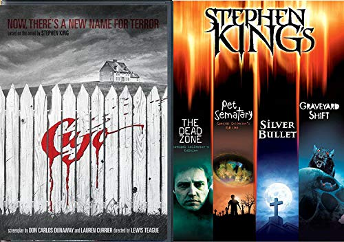 Terror by the Name of Cujo Stephen King Silver Bullet & Pet Semetary & Graveyard Shift + The Dead Zone Master of Horror DVD 5 Feature movie Collection bundle]()