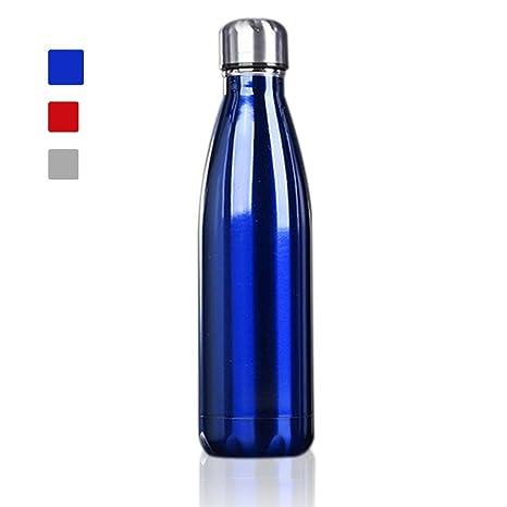 500ml Botella de Agua de Acero Inoxidable Portátil Botella Aislada al Vacío Deportiva Botella Térmica libre de BPA, Mantener sus Bebidas Calientes y ...