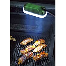 Oasity All-Purpose BBQ Light – 12-LED Lights Barbecue Grills & Smoker Light – Premium Sturdy Aluminum Construction – Doubles As A Work Light – 3 'AAA' Alkaline Batteries Included – 12 Month Warranty