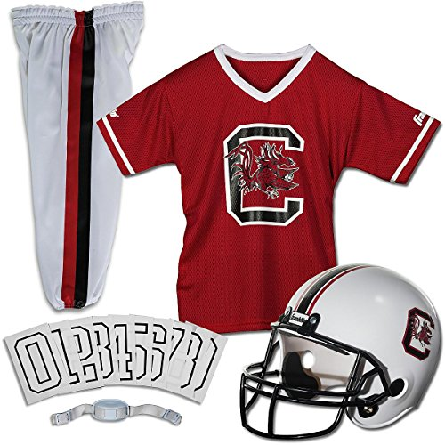 Franklin Sports South Carolina Deluxe Uniform Set - Small (Set Youth Uniform Football Franklin)
