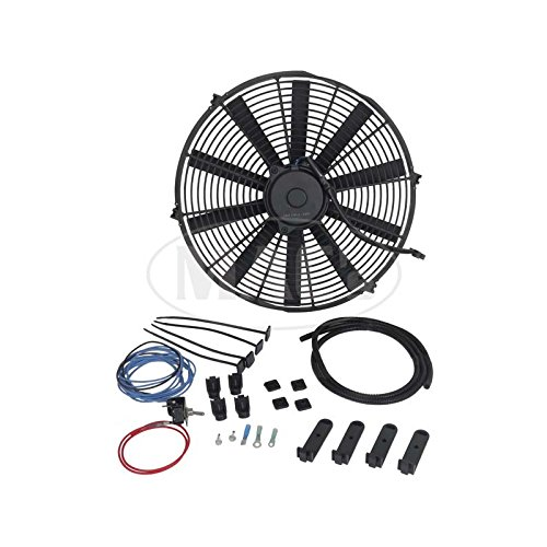 MACs Auto Parts 42-70463 Electric Puller Type Engine Fan 12 Volt 16'' by MACs Auto Parts