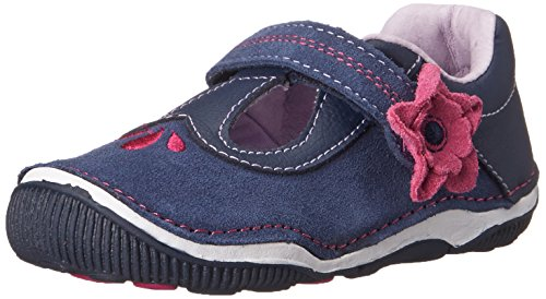 Stride Rite SRTech Teagan T-Strap Mary Jane (Toddler),Navy,8 M US Toddler