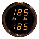 VEI Systems Dual-Display gauge: 320 deg-F transmission temperature and 320 deg-F water/coolant temperature (orange/black)