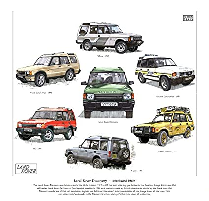 Classic Land-Rover Discovery Print --- The early models 1989
