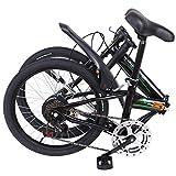 20 Inch Bike Folding Mini Bicycle 7 Speed Compact