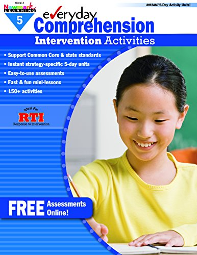 - Newmark Learning Grade 5 Everyday Comprehension Intervention Activities Aid Book (Eia)