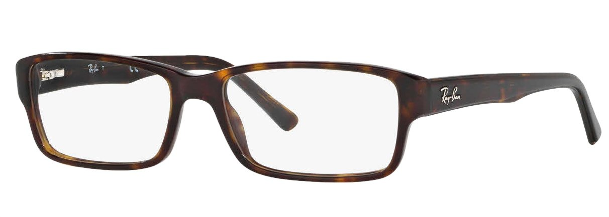 Ray-Ban RX5169 Eyeglasses (54 mm, Dark Havana Frame) by Ray-Ban