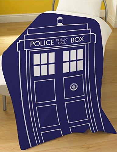 Dreamtex Doctor Who Tardis Deckebettüberwurf Fleece Amazonde