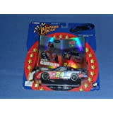 2002 NASCAR Winner's Circle . . . Jeff Gordon #24 Dupont NASCAR Dupont Chevy Monte Carlo 1/43 Diecast . . . Double Platinum . . . Includes Collector Cards and Display Stand