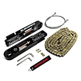 BlackPath - 2003-2004 Suzuki Swingarm Extension + SS Brake Line + Chain Kit GSX-R1000 (Gold) T6 Billet