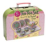Schylling Children's Tin Tea Set in a Case
