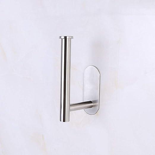 Portarrollos de papel higi/énico de acero inoxidable con soporte de pared autoadhesivo para ba/ño y cocina Sunflower-BOMM As picture negro