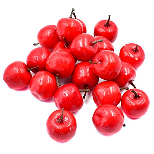 Hagao Artificial Small Apples Simulation Fruit Fake Apple Lifelike for Home Kitchen Party Festival Decoration 20 -