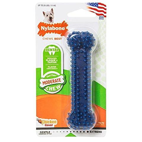 NylaBone Dental Chew, Bone, Original Flavor, Small Dog up to 25 lbs - Dura Chew Plus Bone