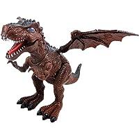 STOBOK Simulación de Dinosaurio con Sonidos ruidosos Luces Paseos electrónicos Tyrannosaurus Toy para niños (Color Aleatorio, Sin batería)