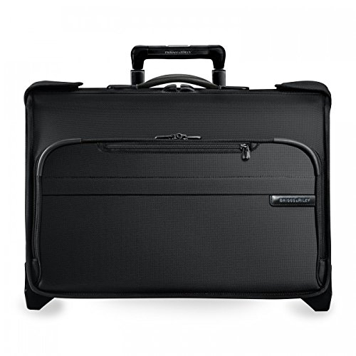 Riley Luggage & Briggs Tag (Briggs & Riley Baseline Carry-On Wheeled Garment Bag, Black, Small)