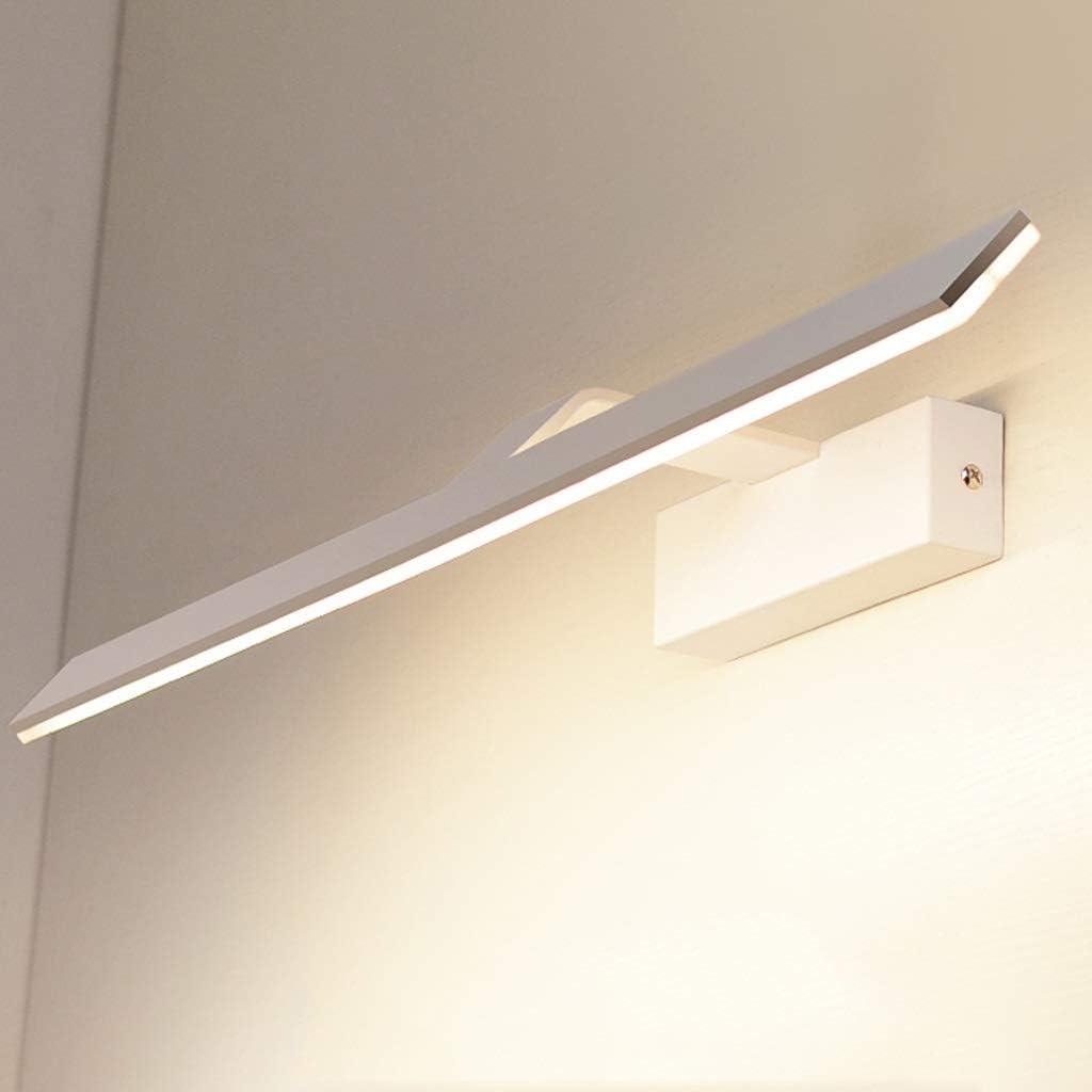 LSXUE Faros de espejo modernos, lámpara de pared LED blanca, material de acrílico, luminaria de montaje en pared, lámparas decorativas, luz nocturna para pasillos, escaleras, dormitorio, 21.7 pulgadas: Amazon.es: Hogar