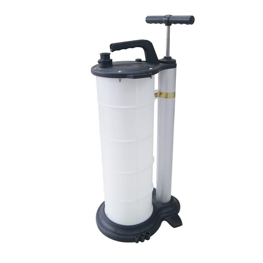 manuelles Vakuum-Absaugger/ät f/ür Motorfl/üssigkeit und /Öl von Autos Wei/ß f/ür 9 l KATSU Tools 481509 mit Handpumpe zum Absaugen