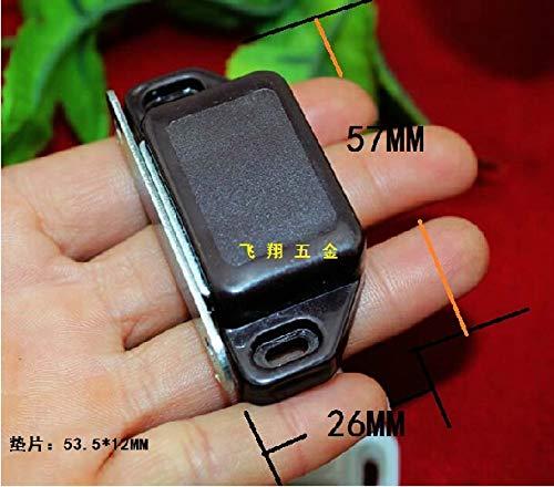 Kasuki 20Pcs 57 26MM large brown doors touch Magnetic Wardrobe Cabinet suck Door Stopper Plastic magnetic latch Door suck