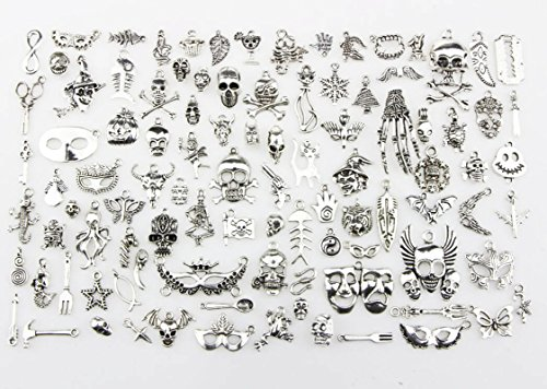 100pc/lot Mixed Charms Sea creatures, Christmas Charms, Halloween Charms Pendants DIY for Jewelry Making and Crafting (Halloween pendant)]()