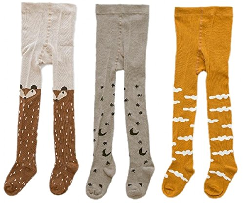 CISMARK Cute Kids Girls Boys 0-3T Tights Legging Pants Warm Stockings(pack of 3)