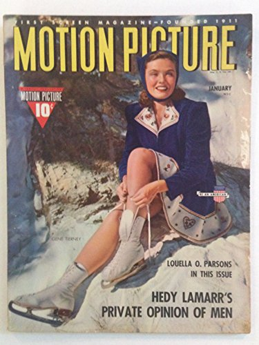 Motion Picture Magazine Incorporating Movie Classic January 1941 (Vol. LX No. 6) Gene Tierney