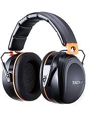 Gehörschutz, Tacklife HNRE1 Kapselgehörschutz mit SNR 34 dB und CE-Zertifizierung, verstellbar und komfortabel für Erwachsene, perfekt für Laute Umgebung und Das Bedürfnis nach Ruhe