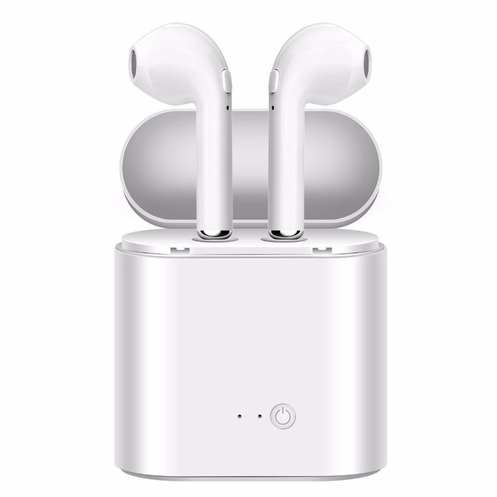 Bluetooth Headphones, Wireless Earbuds Stereo in Ear Eraphones Hands Free Noise Cancelling Compatible iPhone X 8 8plus 7 7plus 6S Samsung Galaxy S7 S8 iOS Android Smart Phones(White)