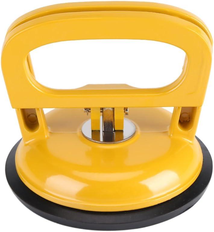 Heavy Duty sola placa ventosa elevador de cristal mover Dent almohadilla de aleación de aluminio para coche reparación Extractor amarillo Diámetro 4,8 pulgadas Brand: Fdit