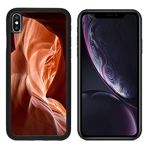 Liili Premium Apple iPhone XR Aluminum Backplate Bumper Snap Case Image ID: 24597616 Antelope Canyon red Sandstone Wall Abstract Pattern Page Arizona