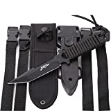 BOffer Scuba Diving Knife,Black Tactical Sharp