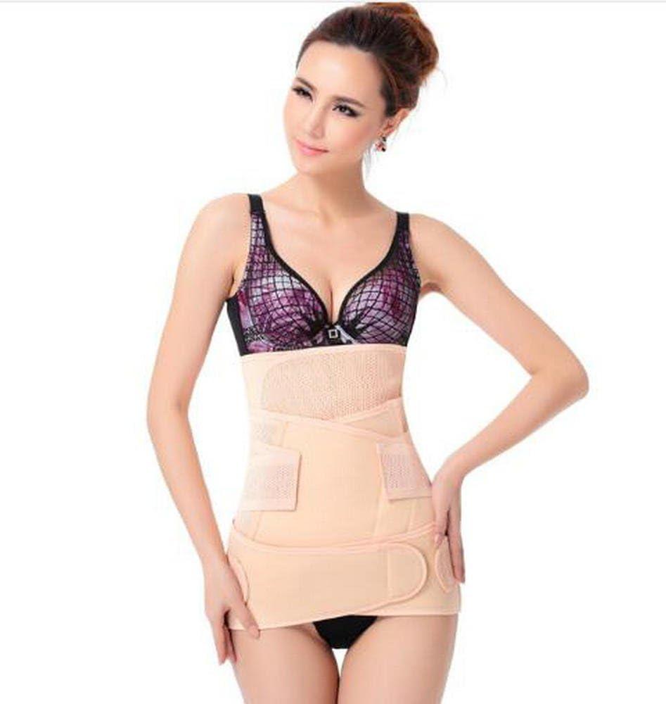 3-piece set waist belt-abdomen belt-pelvis belts summer breathable mesh abdomen bandage