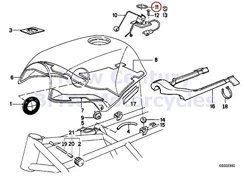 BMW Genuine Motorcycle Fuel Tank/Attaching Parts Gasket Ring K1 K100RS K1100LT K1100RS K75 K75C K75RT K75S K100 K100LT K100RS K100RT