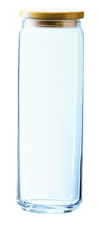 Luminarc 1121605 Box Mania Pot avec Couvercle de Contenance Bois/Verre Transparent 11 x 11 x 10 cm ARTMADIS