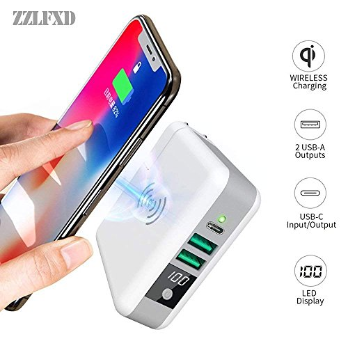 Wireless Portable Charger,Wireless Charger Power Bank 6700mAh USB & USB Type C Support LED QI Battery Charger Pad External Battery Pack for iPhone 8/8 Plus,Samaung S7 S8 S9,Note 7 8,iPhone X by LFXD (Image #1)