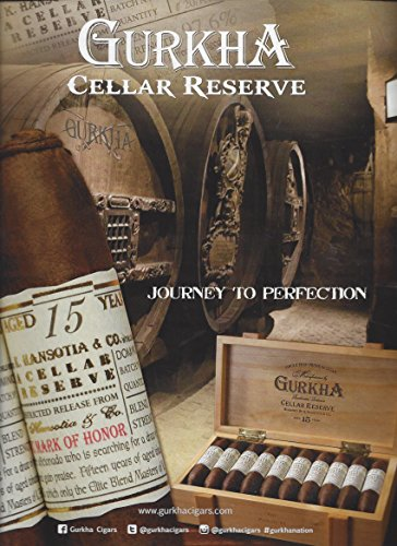 MAGAZINE ADVERTISEMENT For 2015 Gurkha Cellar Reserve Cigars