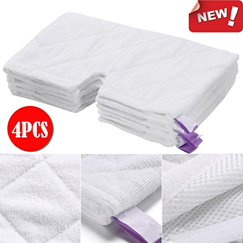 4PCS Standard Pad for Shark Pocket Steam Mop, Microfiber Replacement Mop Pad, Wet & Dry Home & Commercial Cleaning Refills