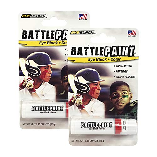 BattlePaint (2 Tubes) Red Eye Black Grease, Rich Vibrant Colors, Worn by The Pros