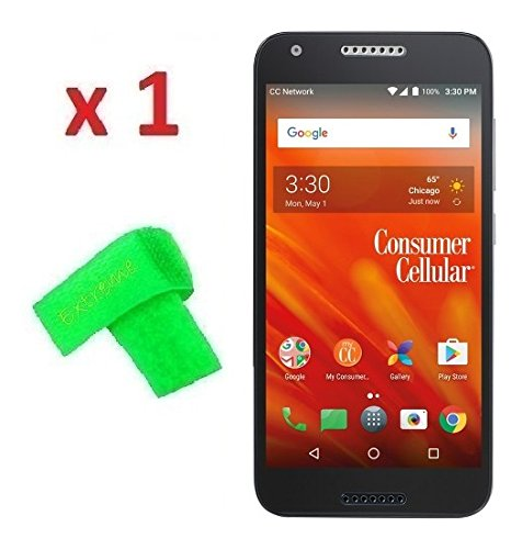 Tempered Glass Screen Protector Guard + Extreme Band + For Consumer Cellular Alcatel Kora (Tempered Glass)