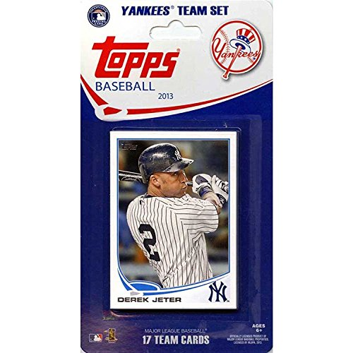 (New York Yankees 2013 Topps MLB Baseball Factory Sealed 17 Card Limited Edition Team Set)